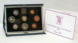1984 Royal Mint United Kingdom Proof Coin Collection In Original Case with COA - $19.80