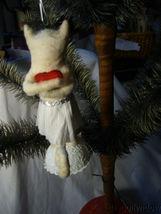 Vintage Inspired Spun Cotton Kitty In Love Kitten Valentine Day Ornament no. V23 image 3