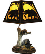 River's Edge Bear Table Lamp with Metal Shade Cabin Country Lodge Rustic... - $110.00