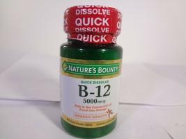 Nature's Bounty Quick Dissolve B-12 40 Quick Dissolve Tablets {VS-N} - $10.40