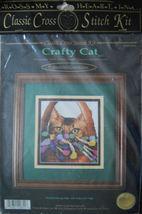 "Counted Cross Stitch 'Crafty Cat"" Kit - 5.6""x 6.5"" - $12.99"