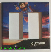 Lego Superman Hollywood Light Switch Power Outlet Wall Cover Plate home decor image 2
