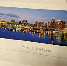 Detroit Panoramic Photograph Print Blakeway 40x13.5 - $18.80