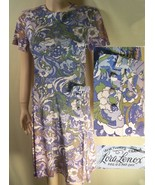 Vtg 60s Lora Lenox secretary day dress rayon Med  - $8.99