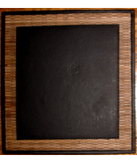 Black 'Bali' Mouse Pad w/ Woven Design on Outer Edge - $20.00