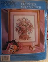 "Counted Cross Stitch Kit ""Basket Bouquet"" 11"" x 14"" - $29.99"