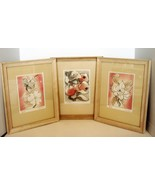 3 Fran Truxsess Original Etchings Frame/Matted ca. 1930's-1940's. - $65.00