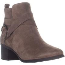 Anne Klein Javen Block Heel Ankle Boots, Chestnut - £50.90 GBP