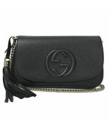 NEW GUCCI 536224 Soho Leather Crossbody Bag, Black - $1,399.00