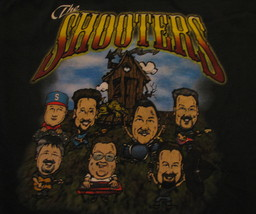 T-Shirt Concert The Shooters front and back print green color - $19.78