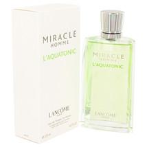 MIRACLE L`AQUATONIC by Lancome Eau De Toilette  4.2 oz, Men - $88.64