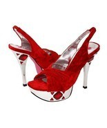 Promiscuous Red Velvet Womens Size 9 Stiletto H... - $39.00