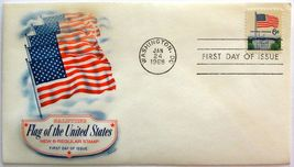 January 24, 1968  First Day of Issue, Fleetwood Cover, Flag and White Ho... - $2.74