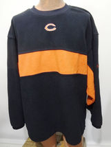 Chicago Bears Reebok Blue & Orange Fleece Sweatshirt Mens 2XL - €32,26 EUR