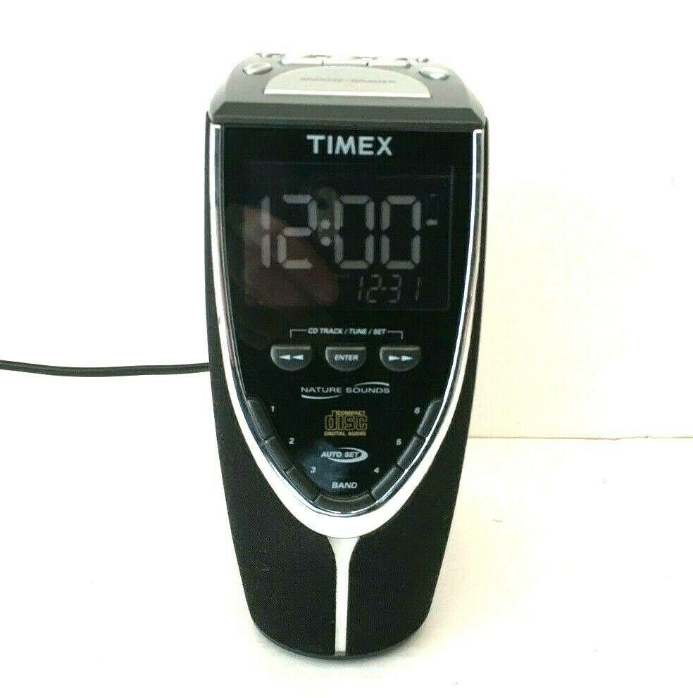 Timex T625B Auto-Set Triple-Alarm CD Clock Radio w/ Nature Sounds - Discontinued - $49.99