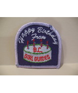 Happy Birthday BC. Girl Guides Souvenir Badge Patch Crest - $4.99