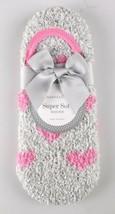 Charter Club Womens Gray Pink Hearts Fuzzy Cozy Super Soft Socks NEW w Tags image 2
