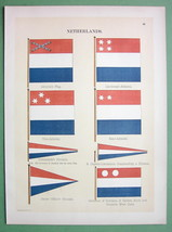HOLLAND Naval Flags Admiral's Surinam Governor - 1899 Color Litho Print - $13.17