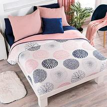 Multicolor Circles Reversible Textured Comforter King Size Soft and Warm - $93.85