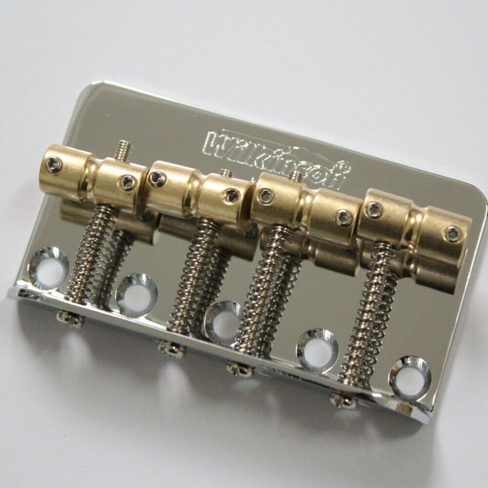 Primary image for Wilkinson Chrome WBBC Bass Bridge, Brass Saddle In Gold in 4 strings