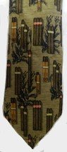 Neck Tie 100% Silk Structure Brown Tan Cigars Smoking Mens Birthday Fathers Day - $19.57