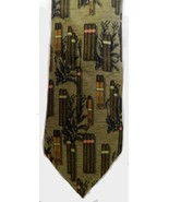 Neck Tie 100% Silk Structure Brown Tan Cigars Smoking Mens Birthday Fath... - $19.37