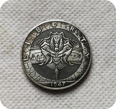 Hobo Nickel 1947 Rare Walking Liberty US Half Dollar Replica Copy Collec... - £4.51 GBP