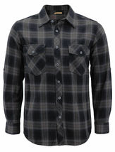 Men's Premium Cotton Button Up Long Sleeve Plaid Comfortable Flannel Shirt image 9