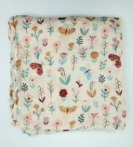 Angel Dear Butterfly Garden Muslin Baby Blanket Girl Multicolored Swaddle B350 - $14.99