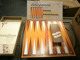 L77 WHITMAN 4832 BACKGAMMON COMPLETE BOARD GAME USED - $4.16