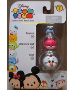 Disney Tsum Tsum 3 Pack Series 1 Eeyore 155 Cheshire Cat 141 Olaf 178 St... - $8.00