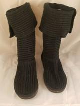 UGG Australia Women's Classic Tall Cardy Knee High Button Knit Boots SZ5 # 5819 - $32.71