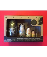 5 Piece NEW Wooden Aliens Nesting Dolls Set Babooshka Matroyska - $25.00
