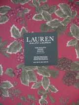 "Ralph Lauren Birchmont Red on Red Tablecloth 120"" Oblong - $61.00"