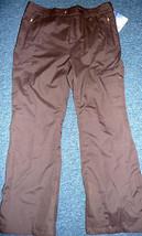 Free Country Womens Pants Ski HIke Golf Rain Water Resistant Brown S M - $74.87