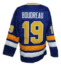 Boudreau #19 Minnesota Fighting Saints Retro Hockey Jersey New Sewn Any Size image 2