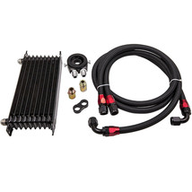 10 ROW AN10 Thermostat Adaptor Engine Oil Cooler+Filter Adapter Kit+ 2 O... - $84.78