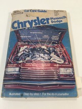 1981 Popular Mechanics Chrysler Plymouth Dodge Car Care Guide - $14.99