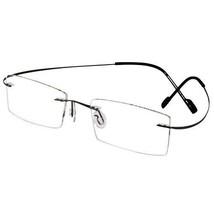 EBE Reading Glasse Bifocal Unisex Gun Rectangle Rimless Anti Glare Light... - $37.18