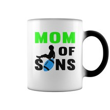 Glassware for U-MOM OF FOOTBALL SONS TSHIRT 9 2 Coffee Mug (color change)  - $16.99