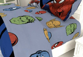 Marvel Avengers - Twin Fitted + Flat Sheet (no Pillowcase) - New - $19.00