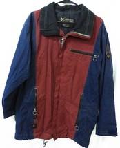 Columbia Convert men small jacket ski snowboard coat blue burgundy - $26.68