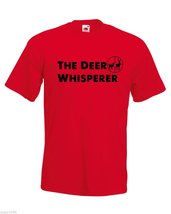 Mens T-Shirt Deer Hunting Quote The Deer Whisperer, Deers Hunt Shirts - $24.74
