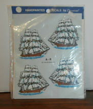 Sailing Ships A-8 Decoral Handpainted Waterslide Decals New Old Stock 1980 - $6.89