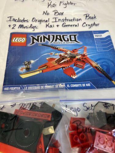 Lego Ninjago Kai Fighter 70721 Plus Manual And 50 Similar Items