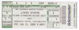 Cool LYNYRD SKYNYRD 1/13/06 Atlantic City NJ Borgata Casino Concert Ticket! - $8.90