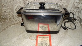 VINTAGE 50'S GENERAL MILLS AUTOMATIC FRYER-COOKER LIGHTS UP W/BETTY CROC... - $44.50