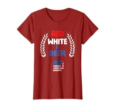 Sport Shirts - Red White And Beer Shirt - USA 4th of July Gift Wowen - $19.95+