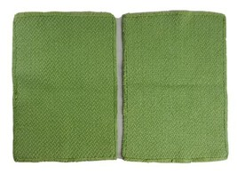 "Placemat Green Avocado Color Set of 2 Vintage Table Protector 11x16"" Fri... - $19.59"