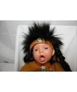 American Indian Porcelain Doll ~ Soft Body ~ Adorable Boy! - $22.77